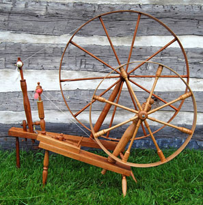 Child's great wheel next to full-size great wheel