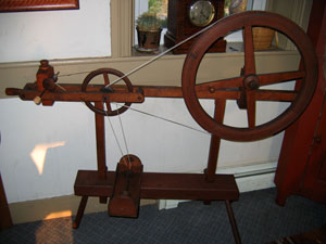 Skinner wheel set up as a bobbin winder