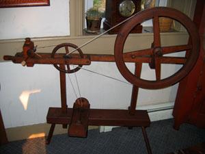Skinner wheel set up as a bobbin winder