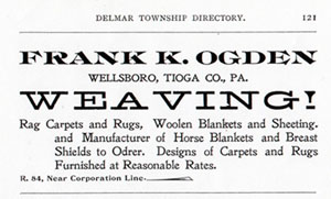1899 Tioga County [PA] directory listing
