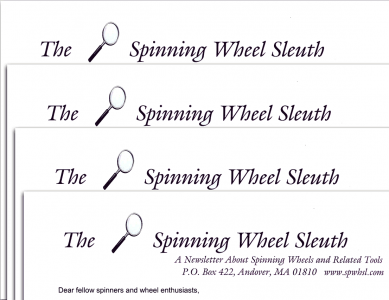 Subscribe for a year of The Spinning Wheel Sleuth.