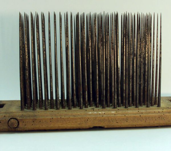 "Early 19th century English hackle marked ""Ridsdale Porter Darlington."""