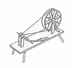European spinning wheel.