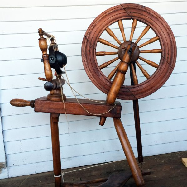 Norman's Hebridean spinning wheel.