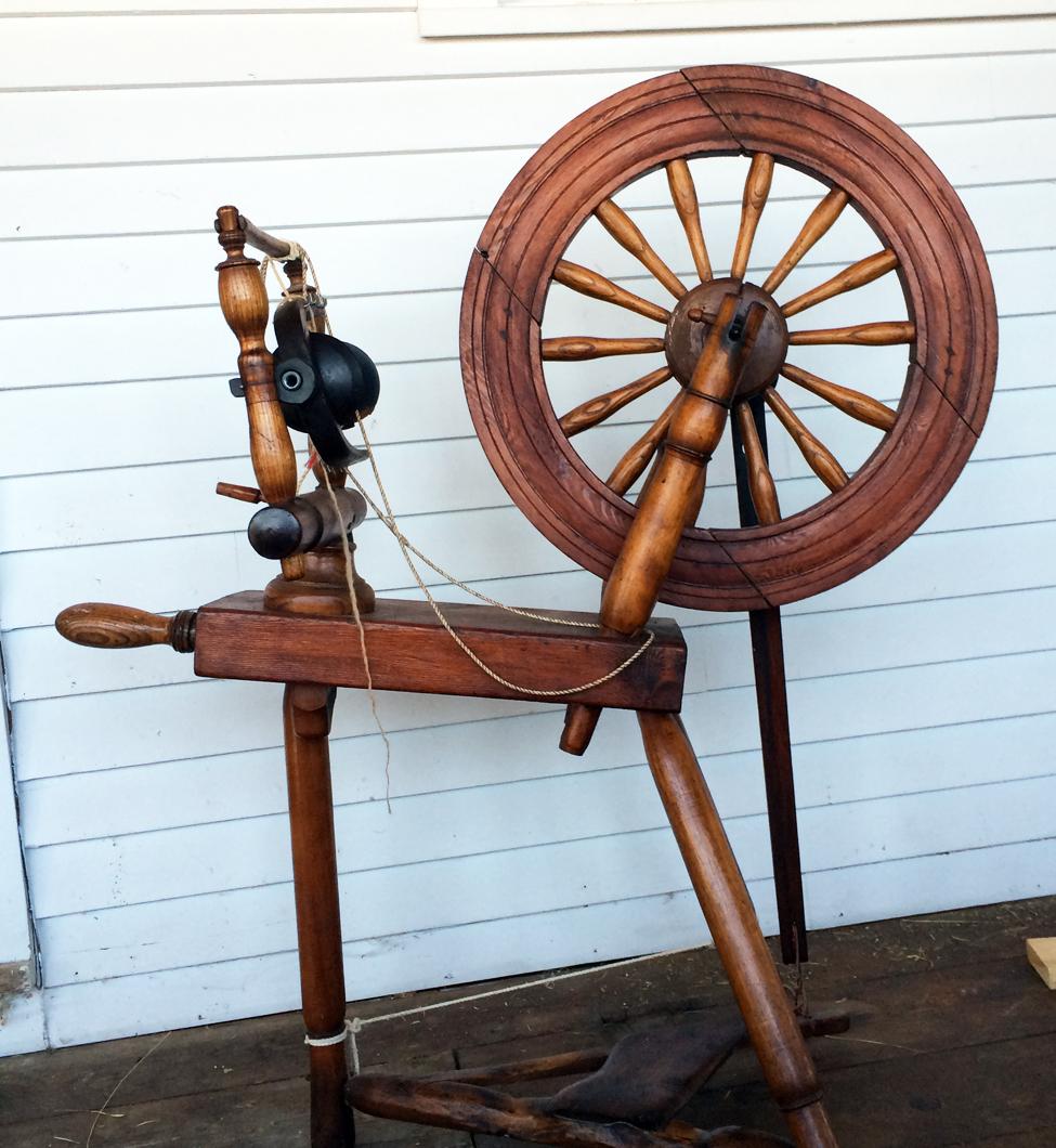 Norman's Hebridean spinning wheel.
