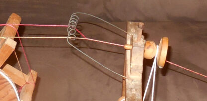 Detail of inserting twist.