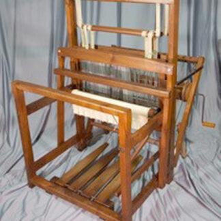 """Gallinger floor loom 24"""" weaving width, overall 34"""" wide x 41"""" long x 48"""" high."""