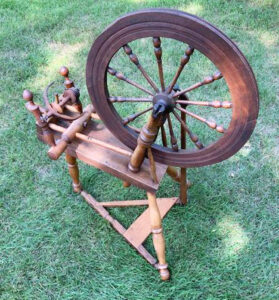 Spinning wheel marked No. 55, RT,1847