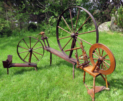 Bobbin winder, great wheel, and single flyer